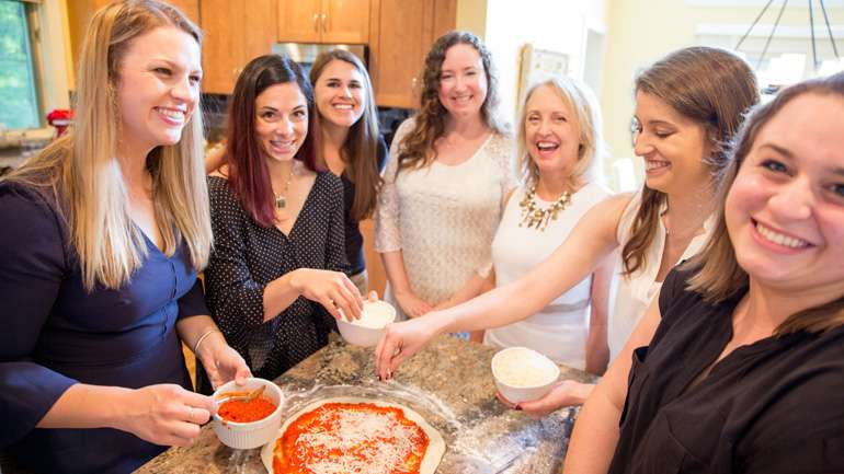 Group Image cheese pizza
