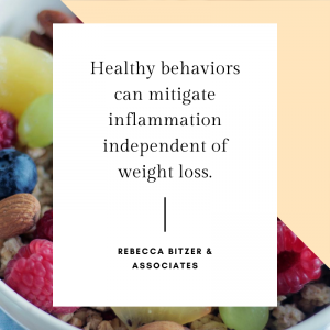 Healthy behaviors can mitigate inflammation independent of weight loss