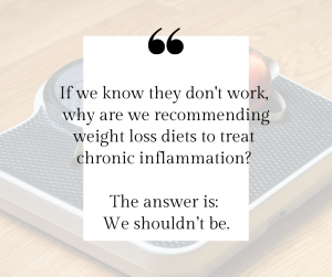 Why are we recommending weight loss diets to treat chronic inflammation?