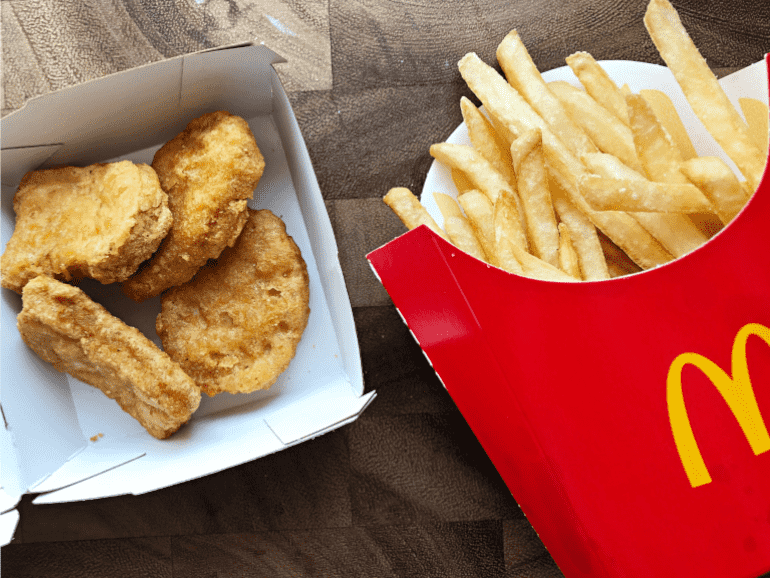 mcdonalds nuggets and fries