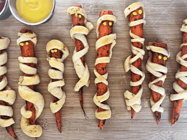 mummy carrot dogs